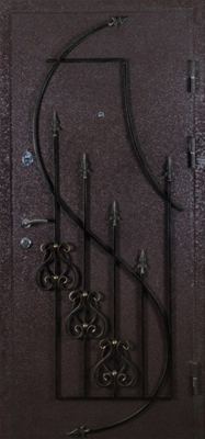 Дверь металлическая с кованными элементами внешнняя сторона